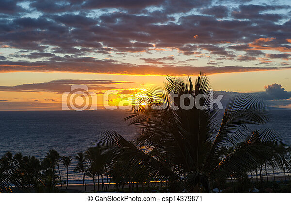 maui, pôr do sol - csp14379871