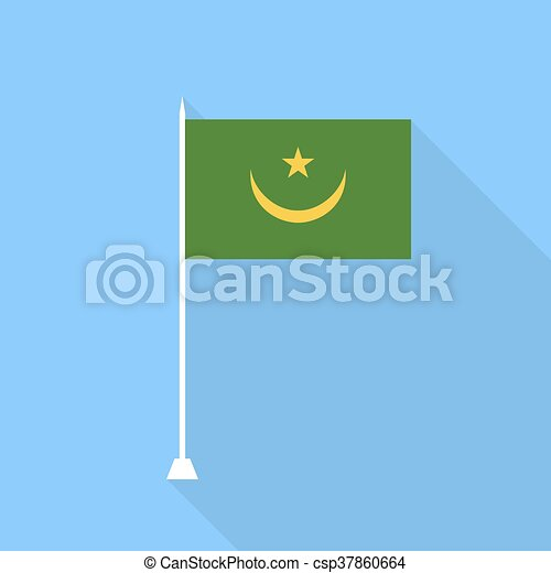 Mauritania Flag. Vector illustration . - csp37860664