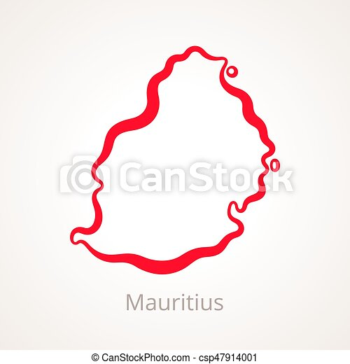 Mauritius - Outline Map