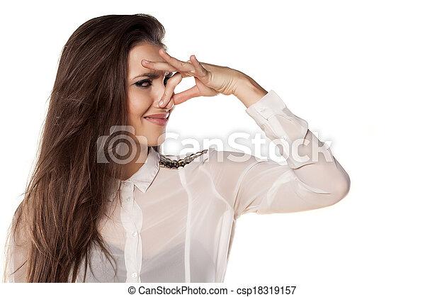 mauvais odeur orteils elle odeur because tenue nez images de stock rechercher des. Black Bedroom Furniture Sets. Home Design Ideas