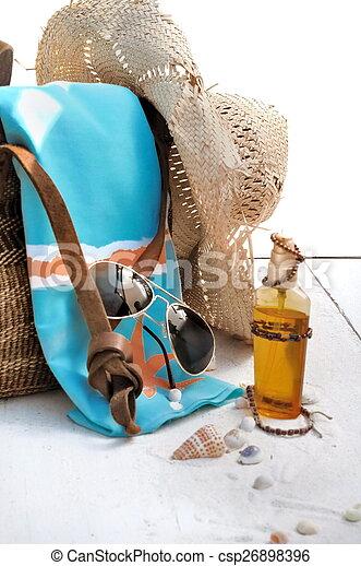 mauvais, plage, accessoires - csp26898396