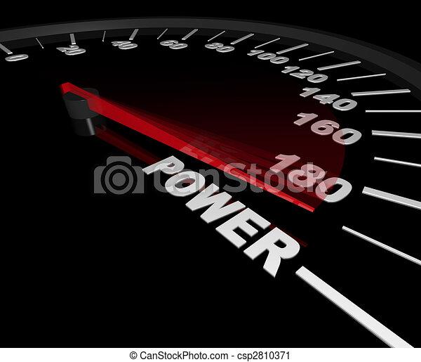 Energía: velocímetro al máximo - csp2810371