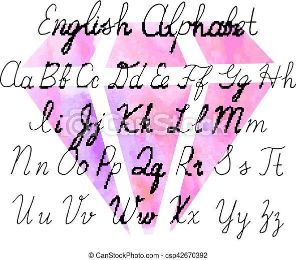 Cartas inglesas de Uppercase - csp42670392