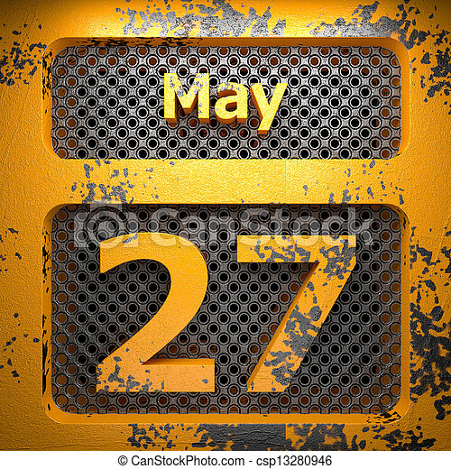 may 27 of painted steel - csp13280946