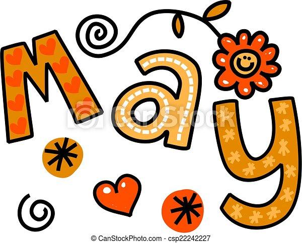 May Clip Art - csp22242227
