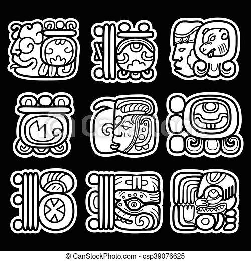 aztec hieroglyphics tattoos