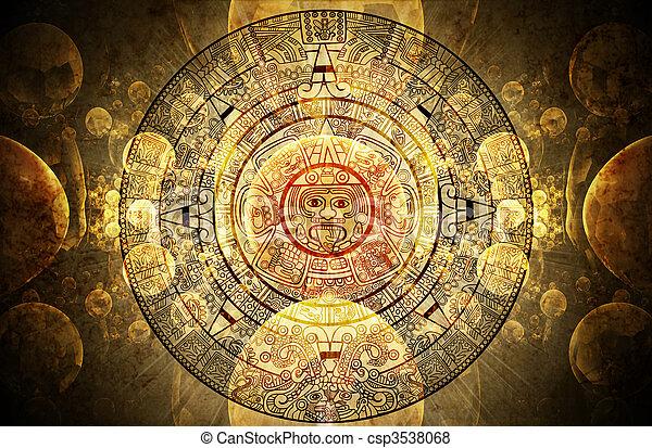 Maya prophecy  - csp3538068