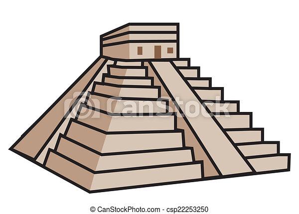 Mayan Pyramid - csp22253250