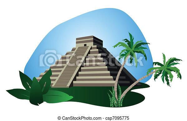 Mayan Pyramid  - csp7095775
