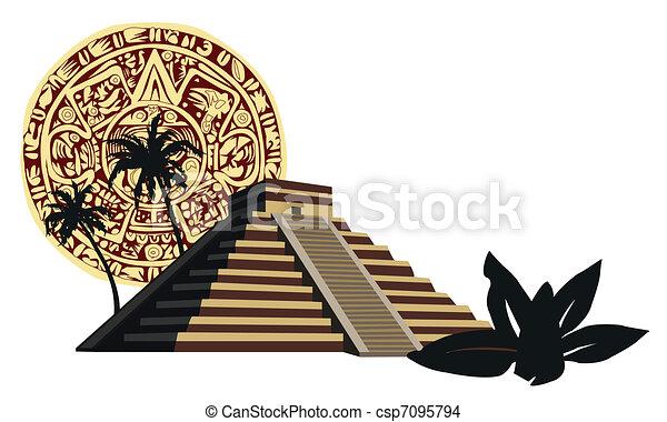 Mayan Pyramid  - csp7095794
