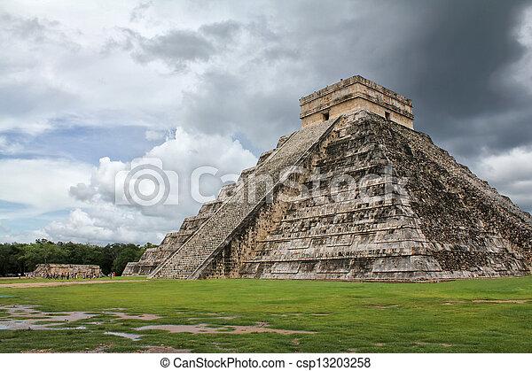 Mayan Pyramid - csp13203258