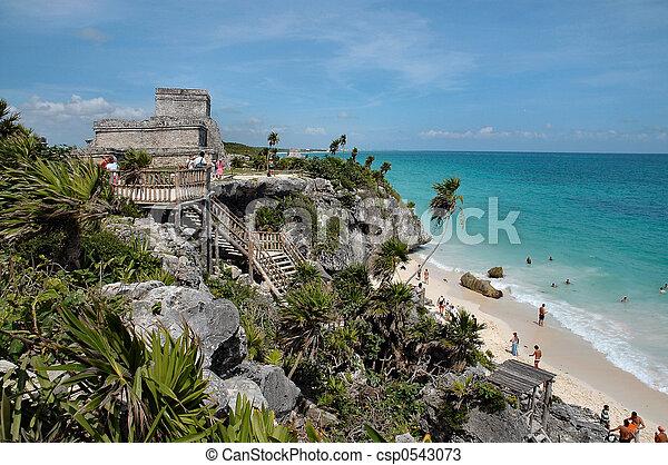 Mayan Ruins In Tulum - csp0543073