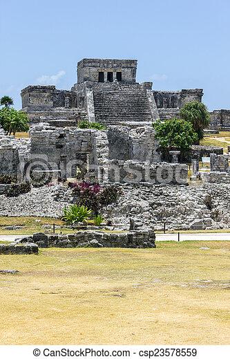 Mayan Ruins, Tulum - csp23578559