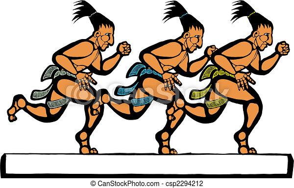 Mayan Runners - csp2294212
