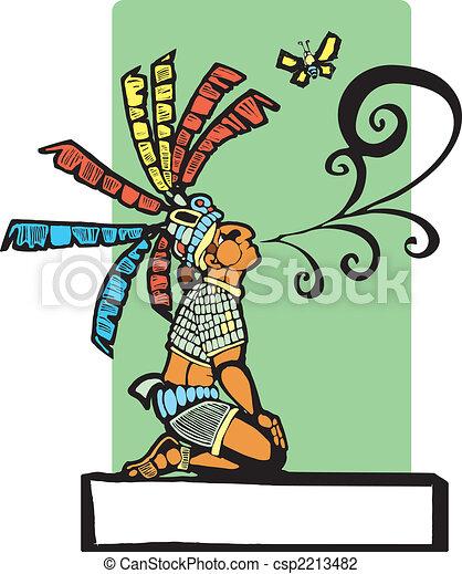 Mayan Storyteller - csp2213482