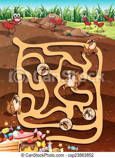 Maze game - csp23863852