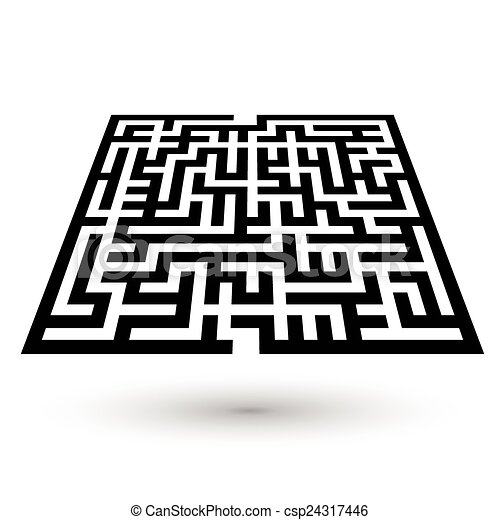 maze game illustration  - csp24317446