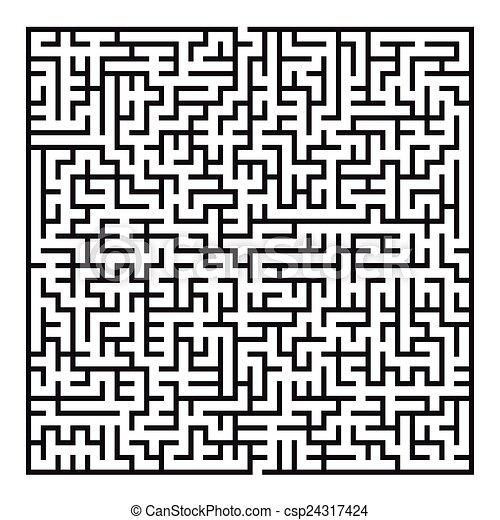 maze game illustration - csp24317424