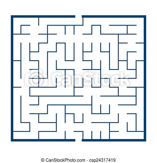 maze game illustration - csp24317419