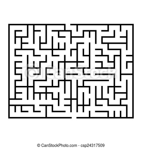 maze game illustration - csp24317509