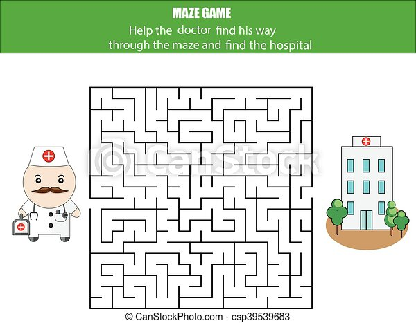 Maze Game Postman And Post Box Kids Activity Sheet Printable Children