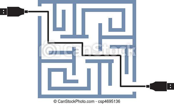 maze of usb link vector - csp4695136