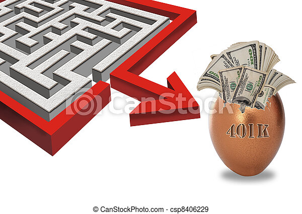 Maze to Your 401K Investments. - csp8406229