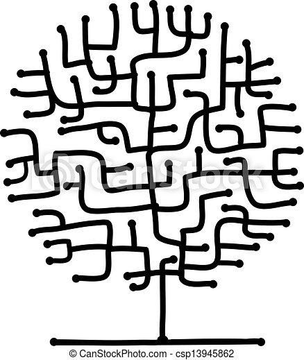 Maze tree for your design - csp13945862