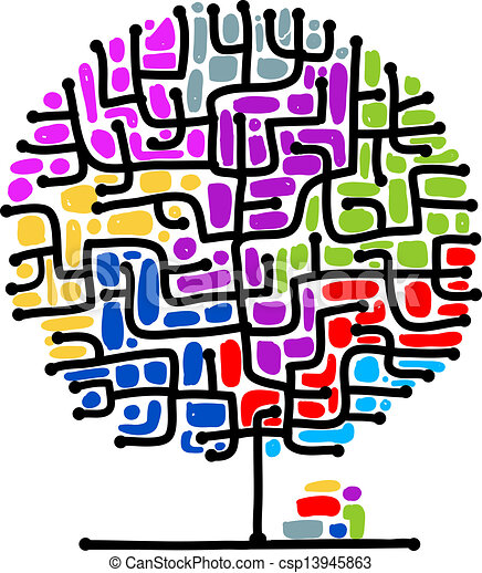 Maze tree for your design - csp13945863