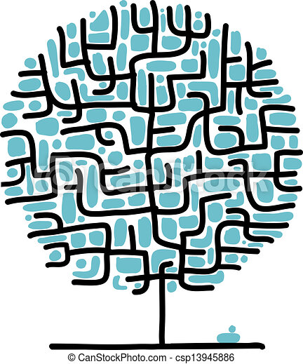 Maze tree for your design - csp13945886
