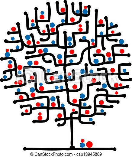 Maze tree for your design - csp13945889