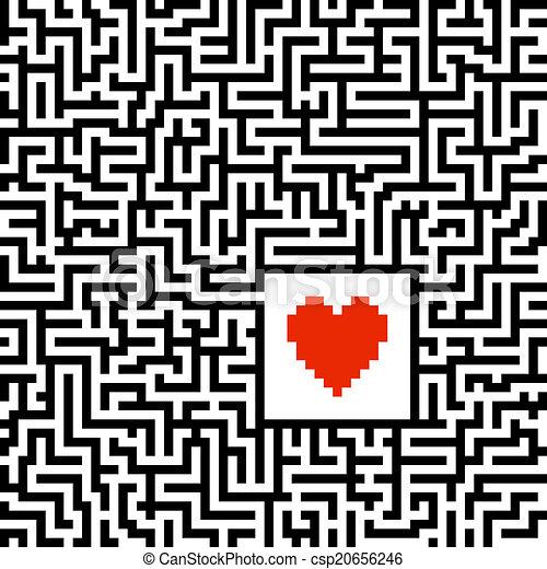 Maze with heart - csp20656246