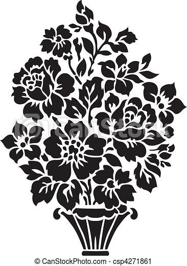 mazzolino floreale, illustrazione - csp4271861