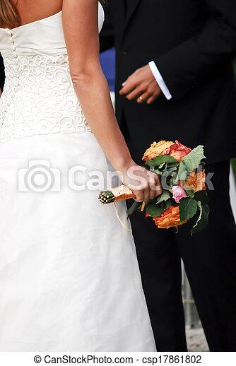 mazzolino, sposa - csp17861802
