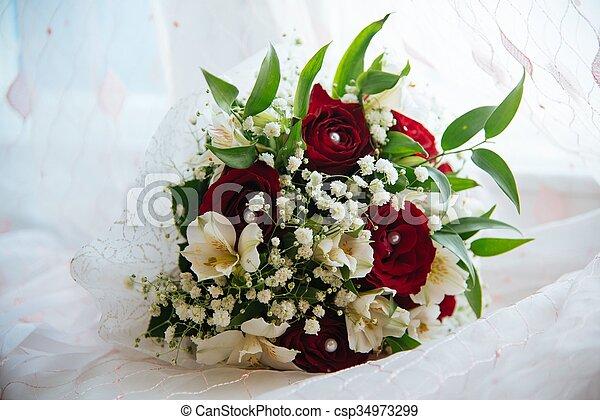 mazzolino, sposa - csp34973299