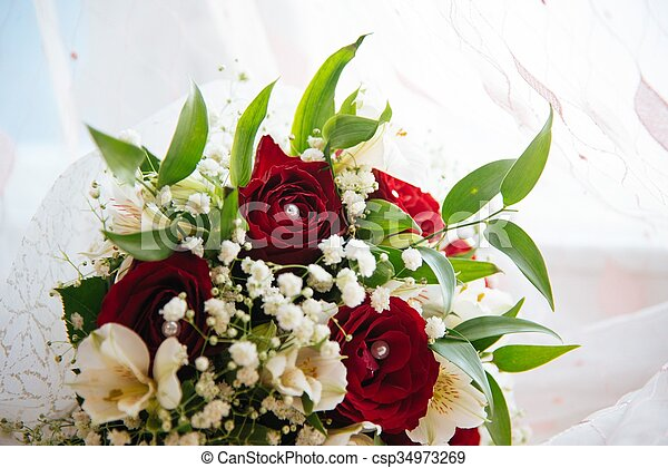 mazzolino, sposa - csp34973269