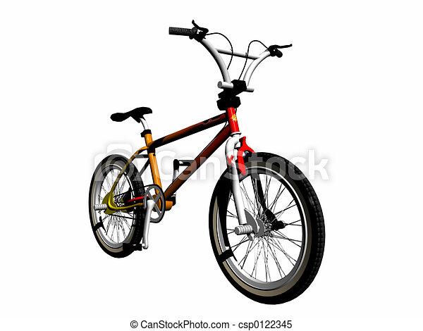 mbx, encima, bicicleta, white. - csp0122345