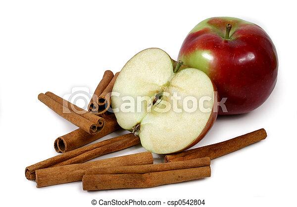 mcintosh, canela, maçãs - csp0542804