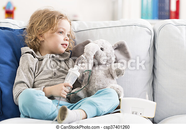 Me and my little elephant are ill... - csp37401260