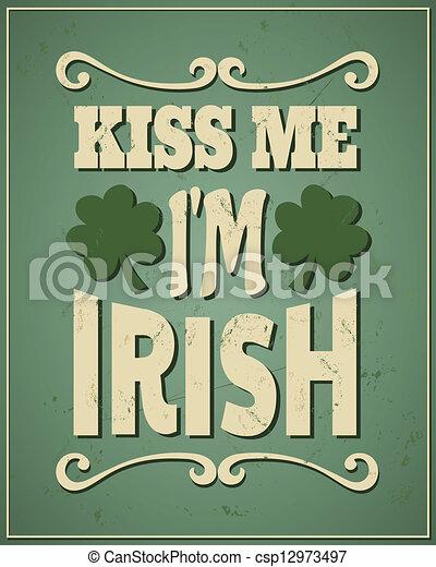 me, irlandese, st., patrick's, bacio, sono, giorno - csp12973497