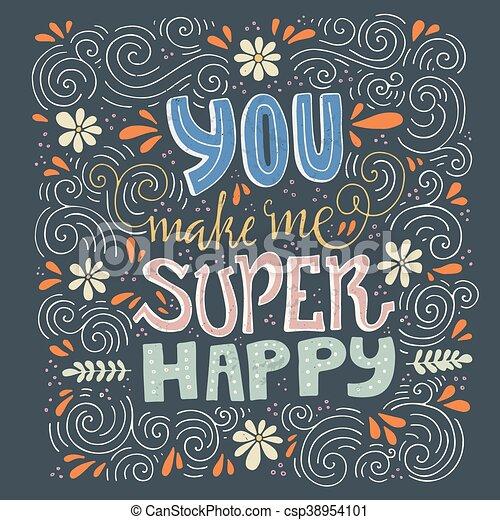 me, lei, fare, felice - csp38954101