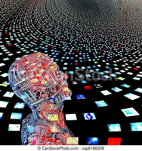 me, propre, entrily, créé, pas, sortie, écrans, besoin, vidéo, humain, images, figures, modèle, logiciel, mon, homme - csp6186206