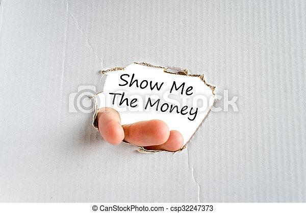 me, soldi, concetto, testo, mostra - csp32247373