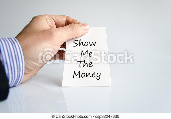 me, soldi, concetto, testo, mostra - csp32247380