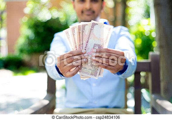 me, soldi, mostra - csp24834106