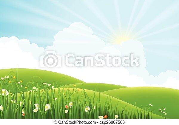 Meadow landscape - csp26007508