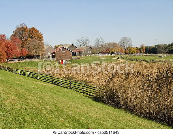 Meadows and Farm - csp0511643