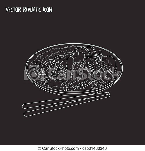 Meal icon line element. Vector illustration of meal icon line isolated on clean background for your web mobile app logo design. - csp81488340