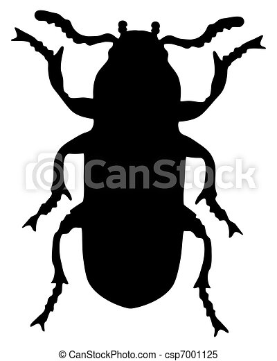 Mealworm silhouette - csp7001125