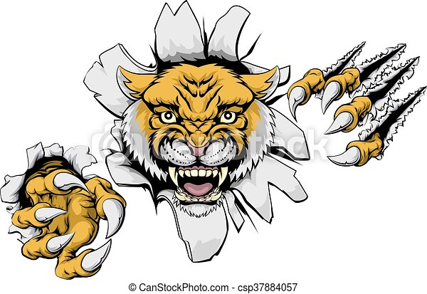 mean wildcat mascot an illustration of a wildcat animal clipart rh canstockphoto com